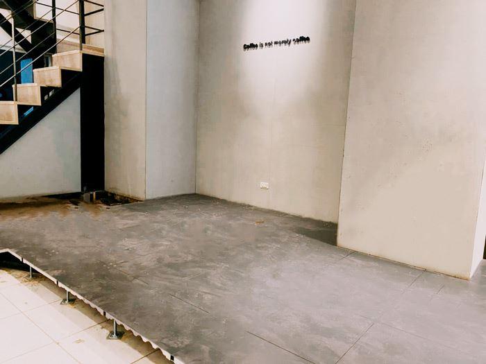 店面廚房櫃台高架地板施工-益靖高架地板